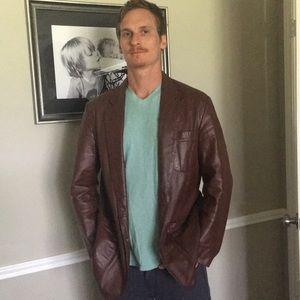 Vintage Genuine Soft Leather Jacket Men's 42